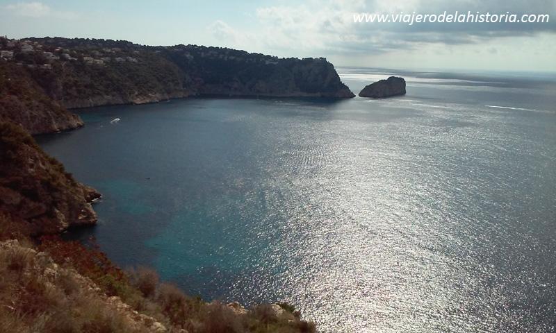 Vistas desde la parte superior del sendero, Xàbia / Jávea, Alicante