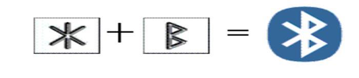Fotografía del logotipo de Bluetooth