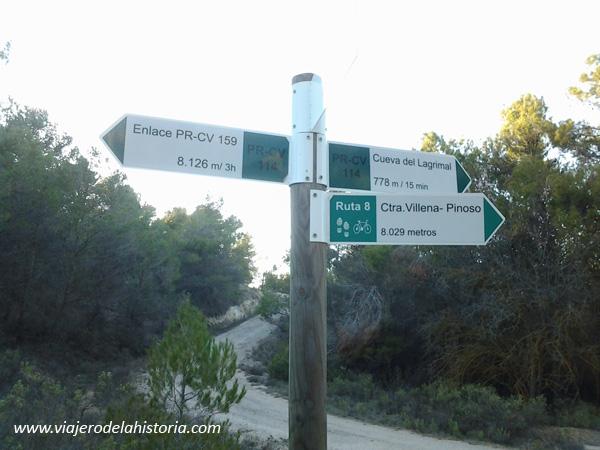 Fotografía punto de inicio de la ruta de la cueva del Lagrimal