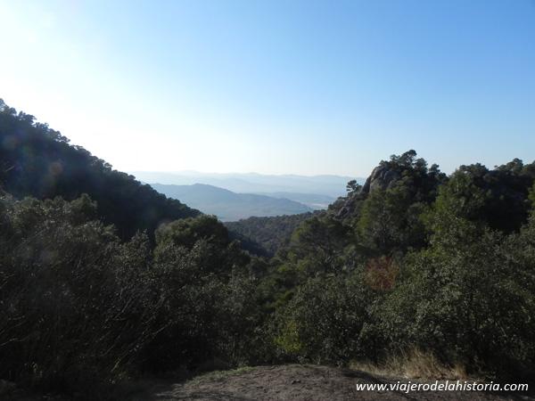 Fotografía de las vistas desde la cueva del Lagrimal