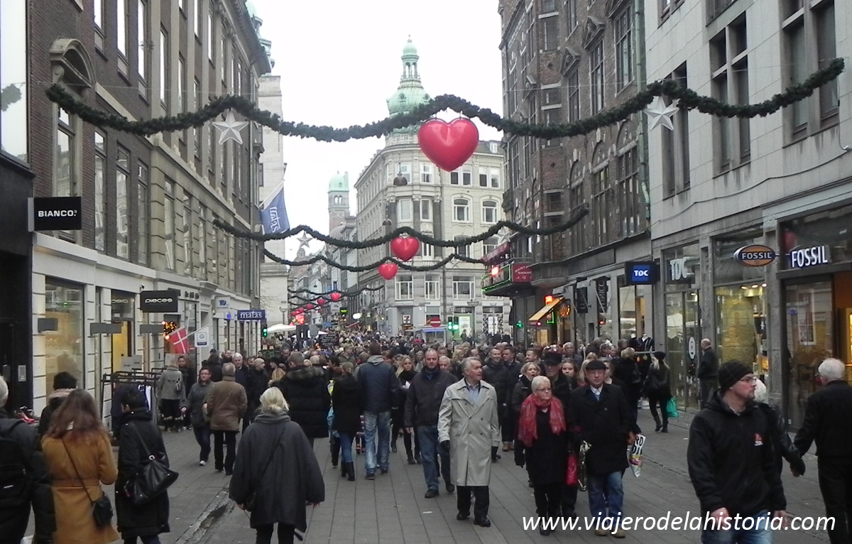 imagen de calle Strøget, Copenhague