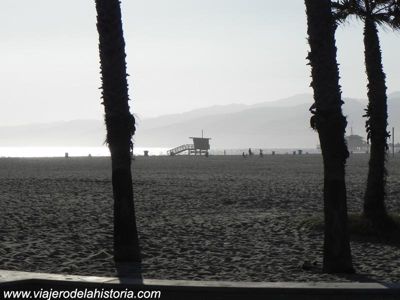 imagen de la playa de Santa Mónica, Los Ángeles, California
