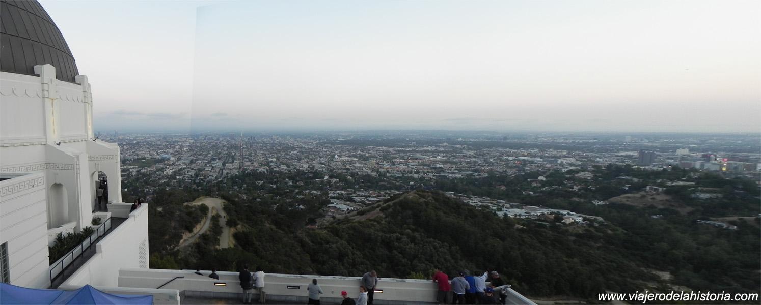 imagen de la ciudad de Los Ángeles vista desde el observatorio Griffith.