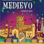 imagen del cartel anunciado de las Fiestas del Medievo, Villena, Alicante