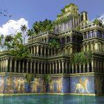 imagen de dibujo de los jardines colgantes de Babilonia