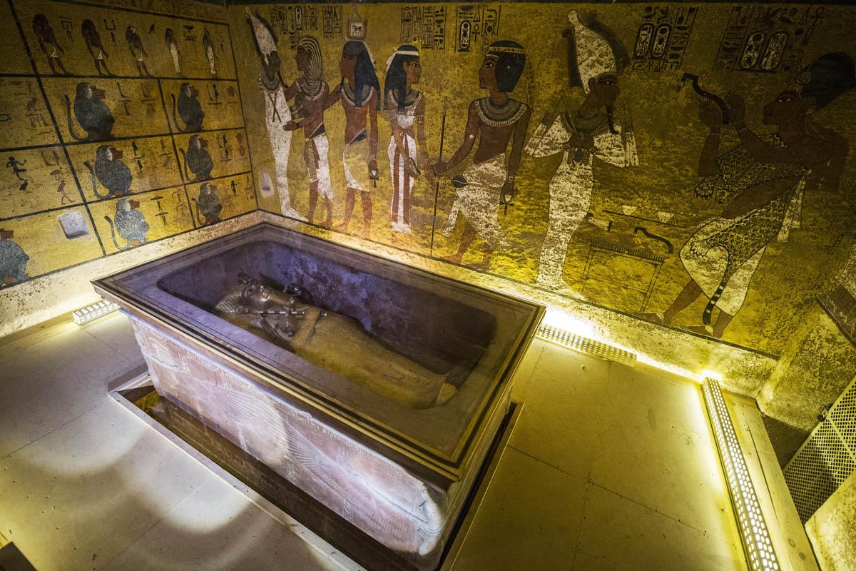 imagen de la tumba de Tutankhamón en Luxor, Egipto