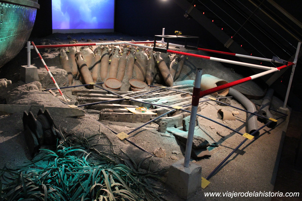 imagen de sala temática arqueología submarina