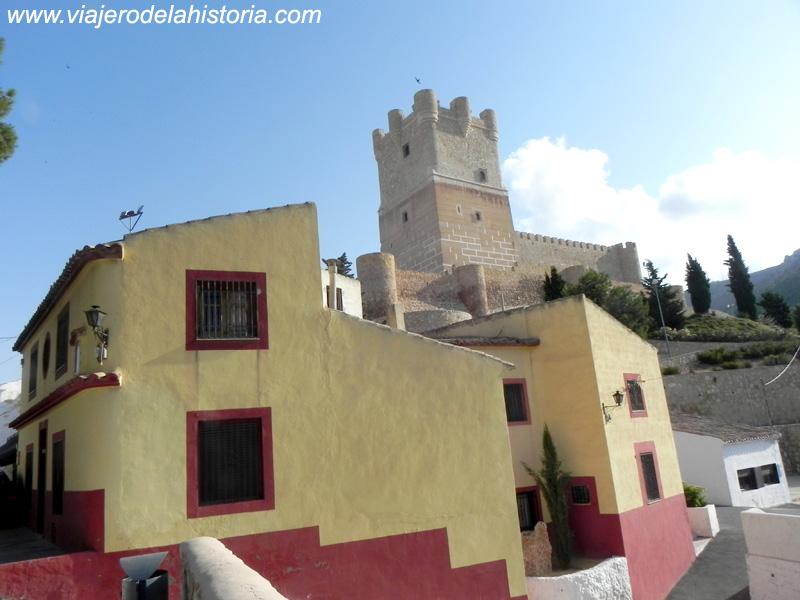 El Castillo visto desde el mirador de Santa Bárbara, Villena, Alicante