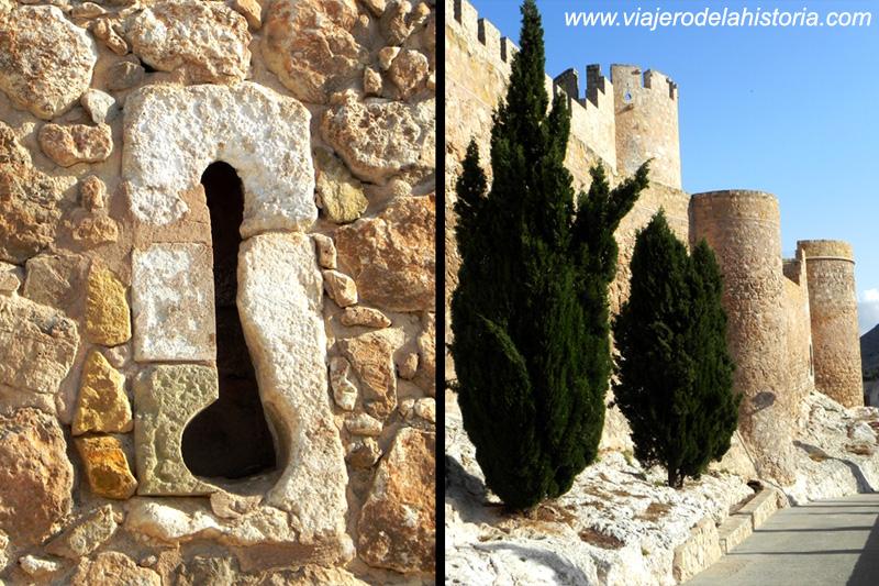 imagen de Saetera y almenas traseras del Castillo de Villena, Alicante