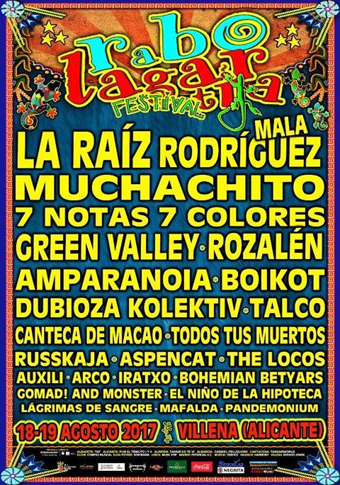 imagen del Cartel 2017 del Festival Rabolagartija