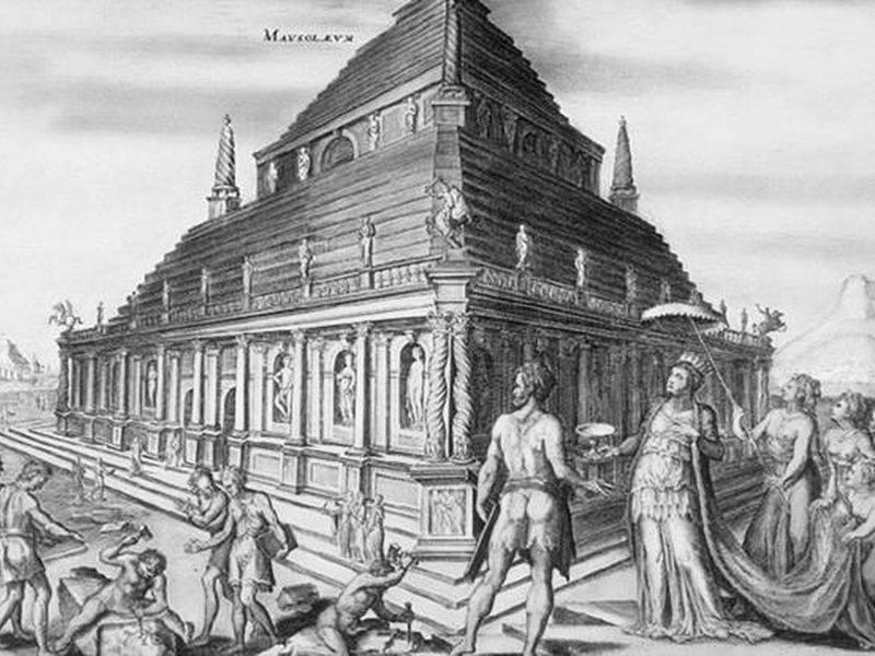 imagen de Lámina del Mausoleo de Halicarnaso de Heemskerck.