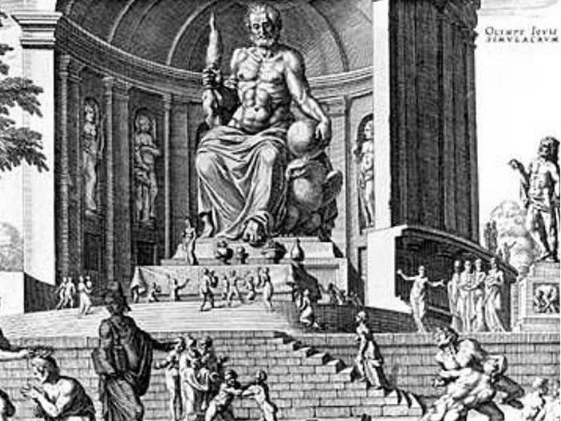 imagen de Estatua de Zeus en Olimpia según Heemskerck