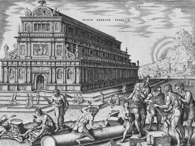 imagen del Templo de Artemis según Heemskerck