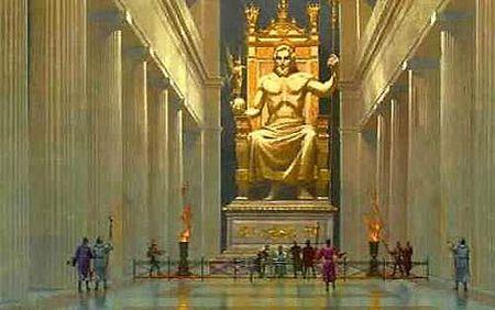 imagen de estatua de Zeus en Olimpia