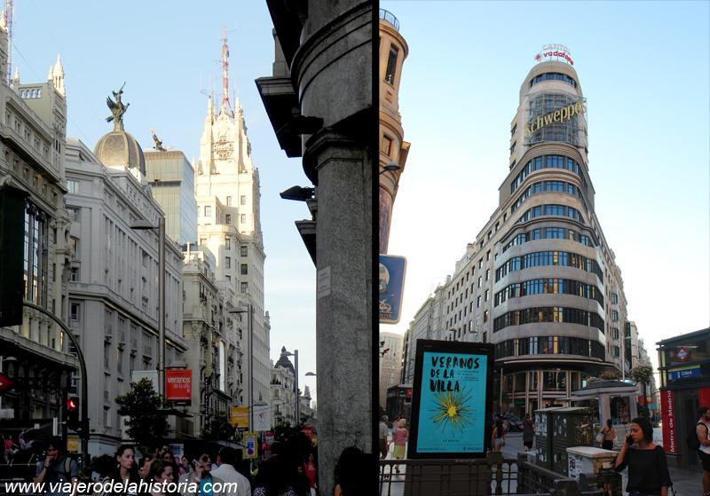 imagen de la Gran Vía, Madrid, España