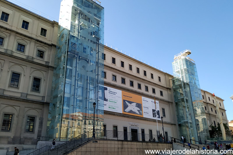 Museos y jardines de Madrid: Fachada del Museo Reina Sofía