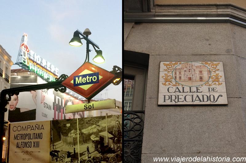 imagen de metro de la Puerta del Sol y calle Preciados