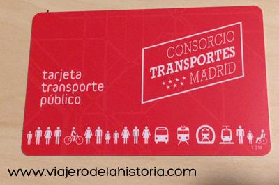imagen de tarjeta de transporte público de Madrid