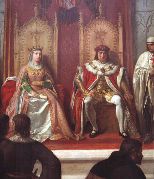 imagen de Los Reyes Católicos administrando justicia