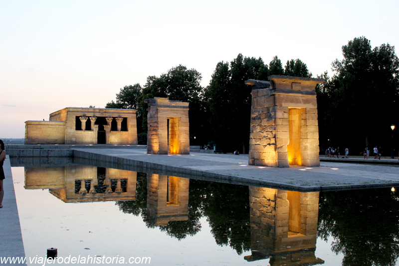 imagen del Templo de Debod, Madrid, España