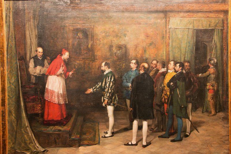 imagen de El cardenal Adriano de Utrech recibiendo a los líderes agermanados