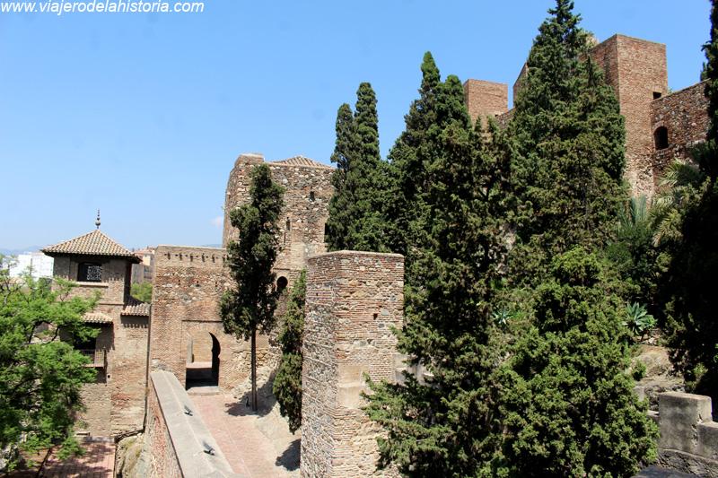 imagen de sección inferior de la Alcazaba de Málaga