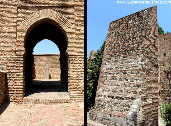 imagen de Arco y muralla de la Alcazaba de Málaga