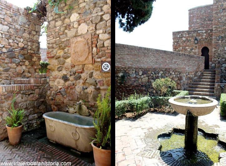 imagen de llegada al Patio de los Surtidores de la Alcazaba de Málaga