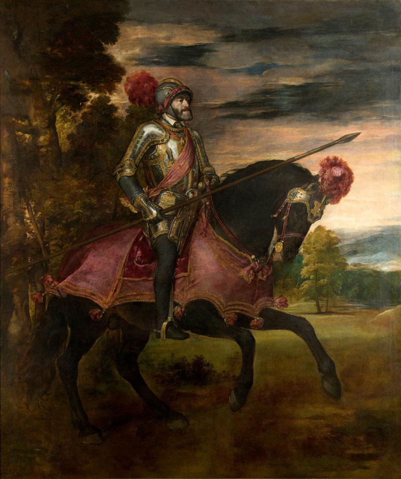imagen de Carlos V en la Batalla de Mühlberg