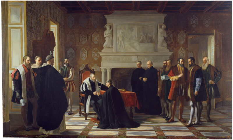 imagen de Carlos V recibe en Yuste la visita de San Francisco de Borja
