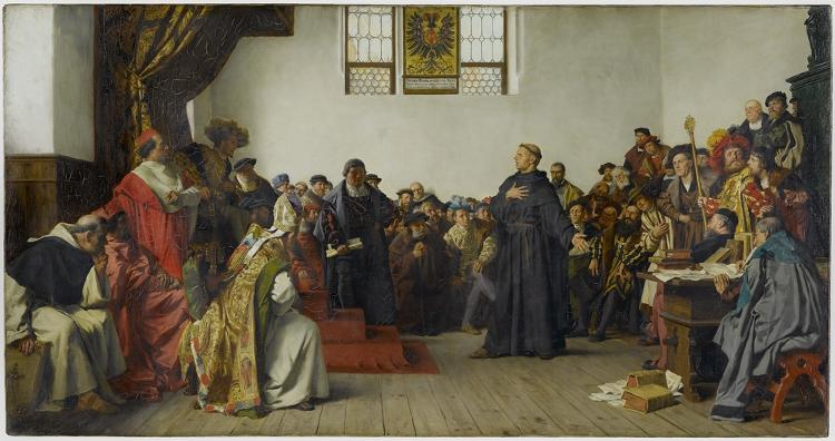 imagen de Lutero en la Dieta de Worms
