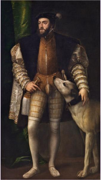imagen de El emperador Carlos V con un perro