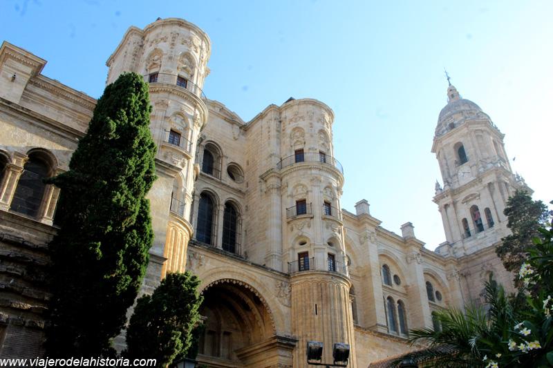 imagen de lateral norte de la Catedral de Málaga