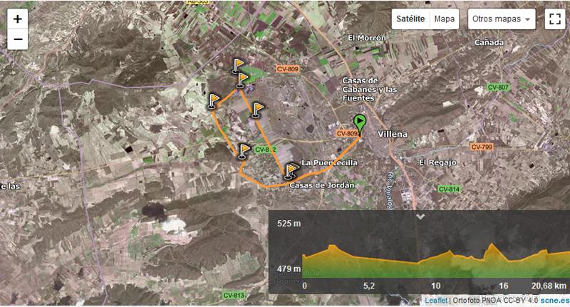 imagen de ruta del Puente de los Espejos Villena, Alicante