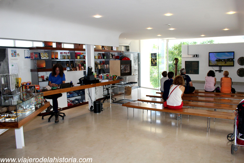 imagen del interior del Centro de Recepción de Visitantes de Antequera, Málaga