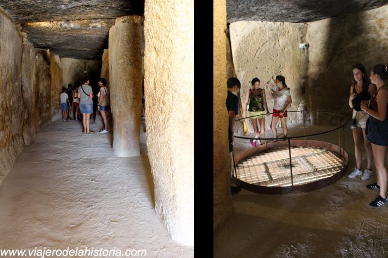 imagen del Interior del Dolmen de Menga: corredor y pozo, Antequera, Málaga