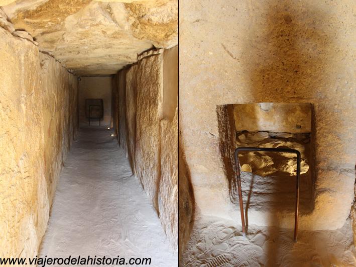 imagen de Corredor interior y acceso a la cámara funeraria del Dolmen de Viera