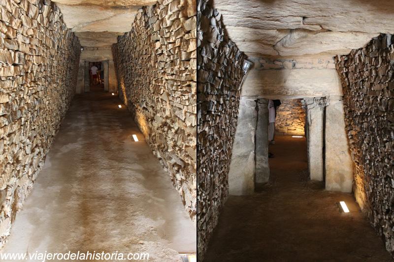 imagen de corredores de acceso al Tholos del Romeral, Antequera, Málaga