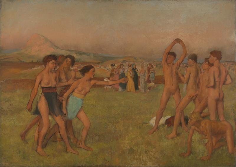"""imagen de """"Jóvenes espartanos ejercitándose"""" (1860), Hilaire-Germain-Edgar Degas"""