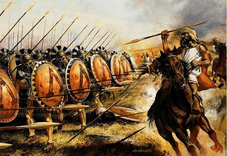 imagen de Hoplitas espartanos