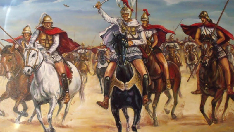 imagen de Alejandro III en la Batalla de Gaugamela