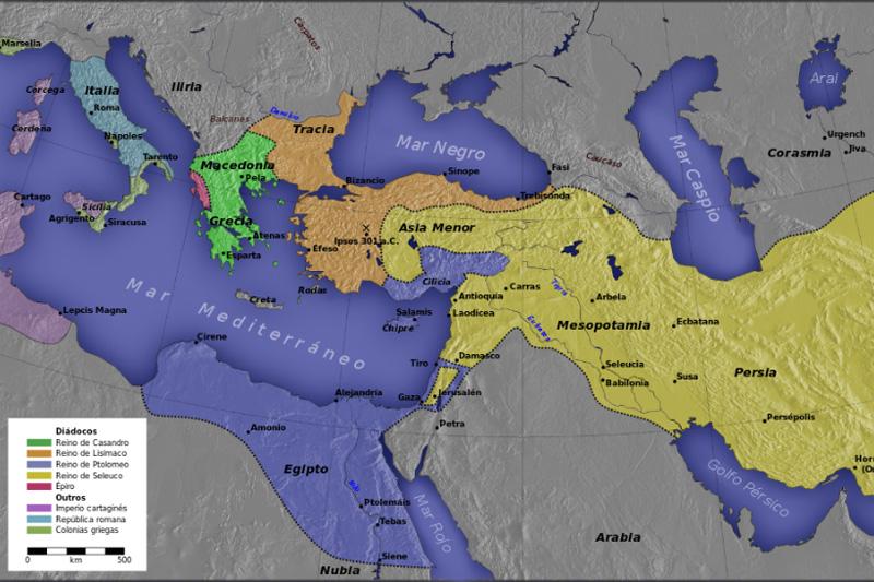 imagen de Distribución territorial tras la Batalla de Ipsos (Wikimedia)