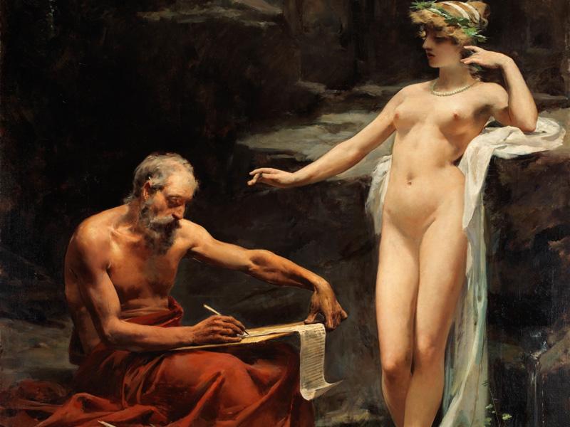 imagen de monarquía romana La ninfa Egeria dictando a Numa las leyes de Roma