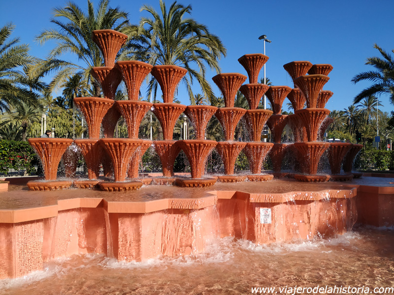 imagen de Fuente en el Parque Municipal de Elche, Alicante