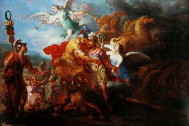 imagen de monarquia romana - Rómulo siendo llevado al Olimpo