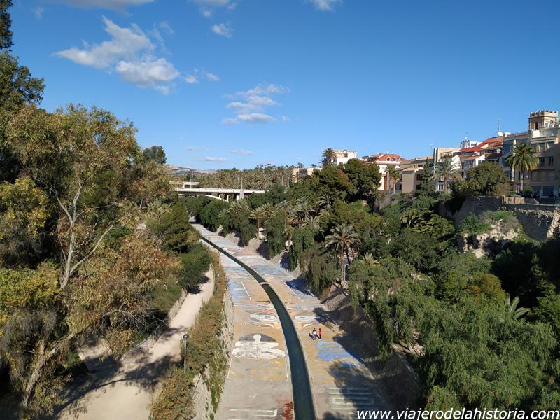 imagen de Cauce del Vinalopó, visto desde un puente, Elche, Alicante