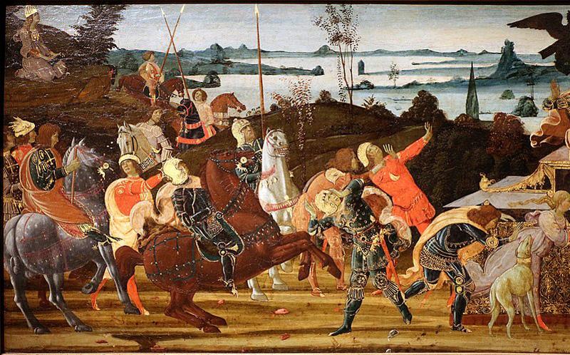 imagen de Tarquinio Prisco entra en Roma - monarquia romana