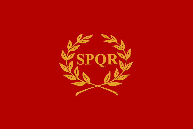 """imagen de república romana - SPQR, senatus populusque romanus - """"el Senado y el pueblo de Roma"""""""