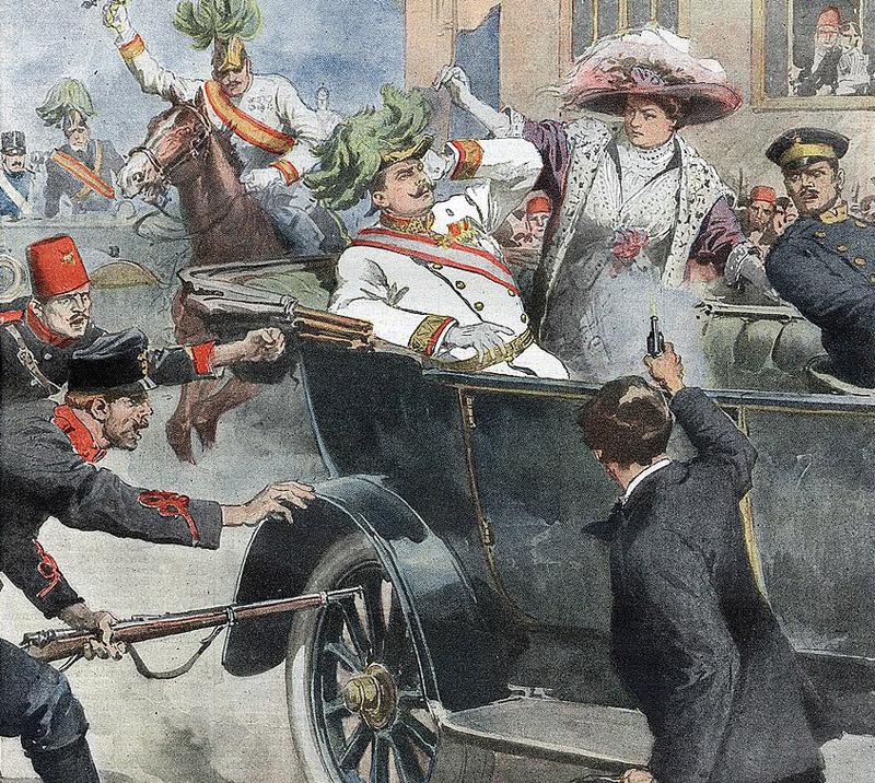 imagen de Primera Guerra Mundial - Asesinato de Francisco Fernando