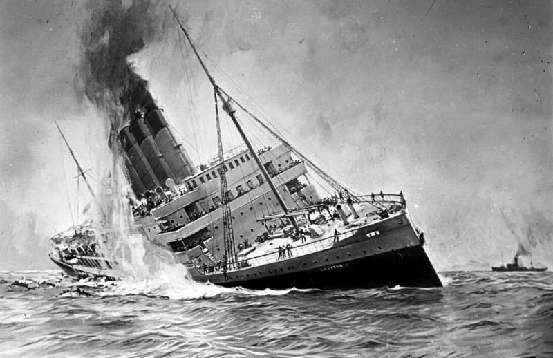 imagen de Primera Guerra Mundial: Hundimiento del Lusitania